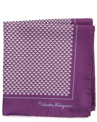 Salvatore Ferragamo Diana Silk Pocket Square
