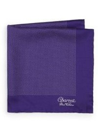 Charvet Small Pattern Silk Pocket Square