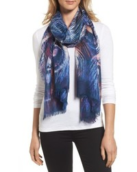 Nordstrom Modern Peacock Silk Cashmere Scarf