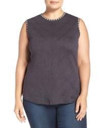 Plus size double stitch sleeveless top medium 801520