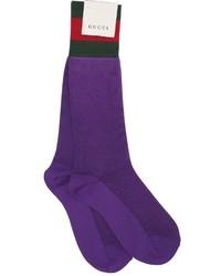 Gucci Cotton Blend Socks W Web Detail