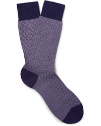 Pantherella Forsyth Patterned Cotton Blend Socks