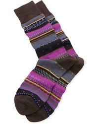 Paul Smith Interior Stripe Socks Violet