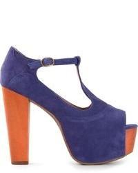 Violet Suede Heeled Sandals