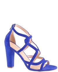 J.Crew Suede Geometric High Heel Sandals