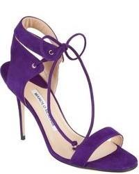 Manolo Blahnik Laramod Ankle Strap Sandals