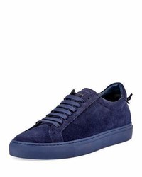Violet Suede Low Top Sneakers