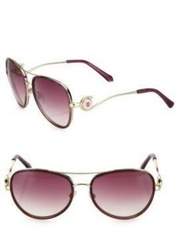 Roberto Cavalli 58mm Gradient Flash Aviator Sunglasses