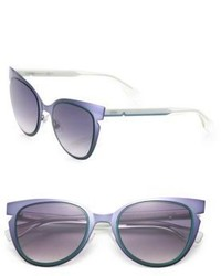 Fendi 52mm Notched Cat Eye Metal Sunglasses