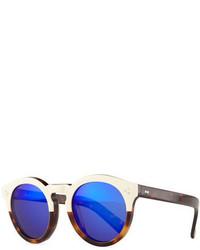 Illesteva Leonard Ii Two Tone Sunglasses Creamhavanaviolet