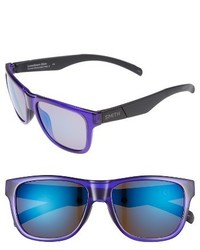 Smith Lowdown Slim 53mm Mirrored Sunglasses Crystal Ultraviolet