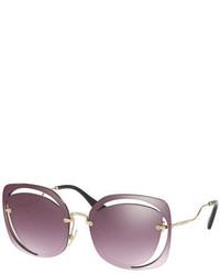 Square cutout metal sunglasses medium 4424810