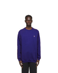 Vetements Blue Logo Tape Sweatshirt