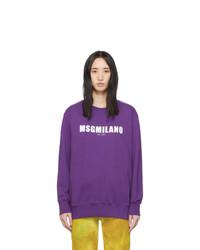MSGM Purple Milano Est 2009 Sweatshirt