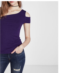 Express One Shoulder Cut Out Tee
