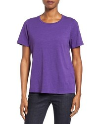 Eileen Fisher Slub Cotton Jersey Tee