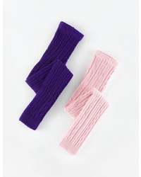 Boden 2 Pack Cable Footless Tights