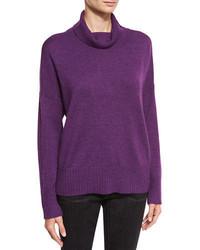 Eileen Fisher Lush Merino Boxy Turtleneck Sweater