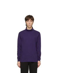 Ps By Paul Smith Purple Rolled Collar Turtleneck