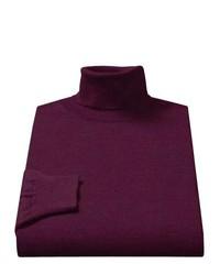 Toscano Merino Wool Turtleneck Earl Grey Melange