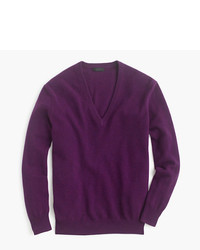 Italian cashmere boyfriend v neck sweater medium 522062