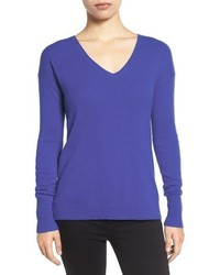 Petite halogen v neck cashmere sweater medium 952063