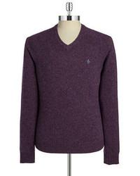 Original Penguin Wool V Neck Sweater
