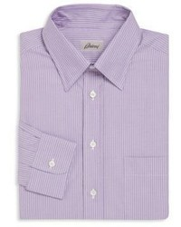 Brioni Regular Fit Striped Cotton Sportshirt