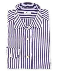 Striped cotton dress shirt medium 5207246