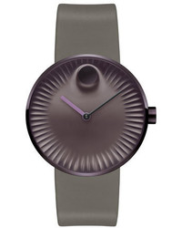 Movado 40mm Edge Watch With Silicone Strap Purplecoffee