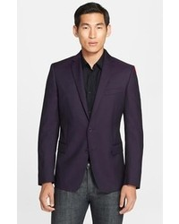 Versace Collection Purple Twill Wool Silk Sport Coat