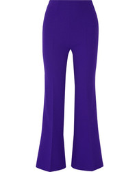 Violet Wool Flare Pants