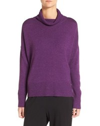 Eileen Fisher Wool Blend Jersey Turtleneck Sweater