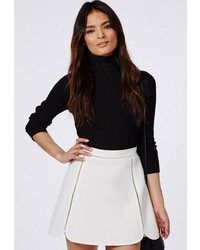 Missguided Ladder Detail A Line Skirt White