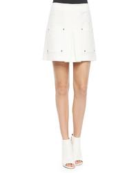 Veronica Beard Patch Pocket A Line Skirt White