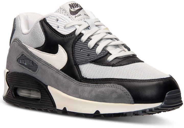 check out e4b4b ba6a2 Nike Air Max 90 Essential Running Sneakers From Finish Line,  109   Macy s    Lookastic.com