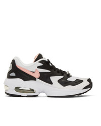 Nike Black And White Air Max 2 Light Sneakers