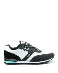 BOSS Panelled Low Top Leather Sneakers