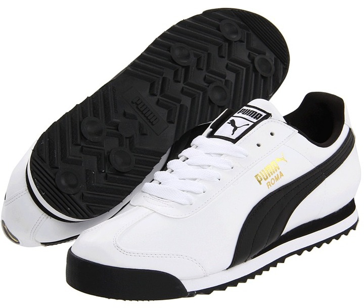 ... and Black Athletic Shoes Puma Roma Basic Shoes ... c8803a520