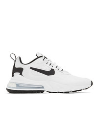 Nike White And Black Air Max 270 React Sneakers