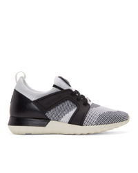 Moncler White And Black Emilien Scarpa Sneakers