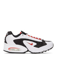 Nike White And Red Air Max Triax 96 Sneakers