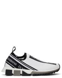 Dolce & Gabbana White Black Sorrento Sneakers