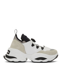 DSQUARED2 White Rolling Giant Sneakers