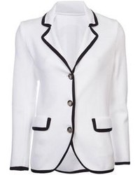 White and Black Blazer