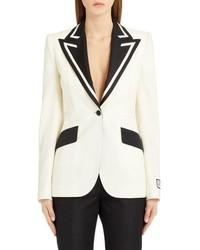 Dolce & Gabbana Contrast Lapel Stretch Blazer