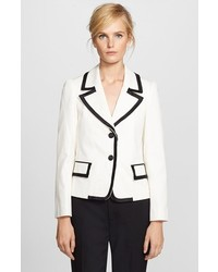 Marc Jacobs Silk Trim Textured Tux Jacket