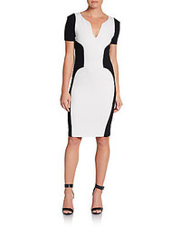 Emilio Pucci Colorblocked Stretch Wool Knit Dress