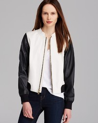 Jacket leather bomber medium 26184