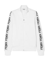 Fendi Wonders Cotton Blend Jersey Track Jacket